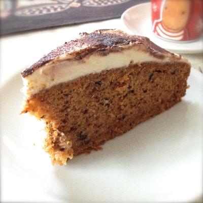 Karotten-Walnuss-Kuchen mit Frischkäsecreme