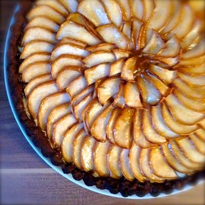 Birnen-Brownie-Tarte