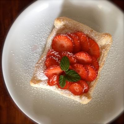Erdbeer-Pudding-Teilchen